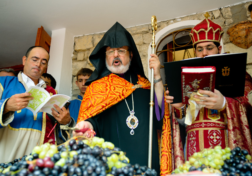 Archbishop Aram Atesyan in Vakifli